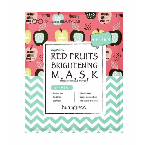 Masca iluminanta de tip servetel cu fructe rosii p...