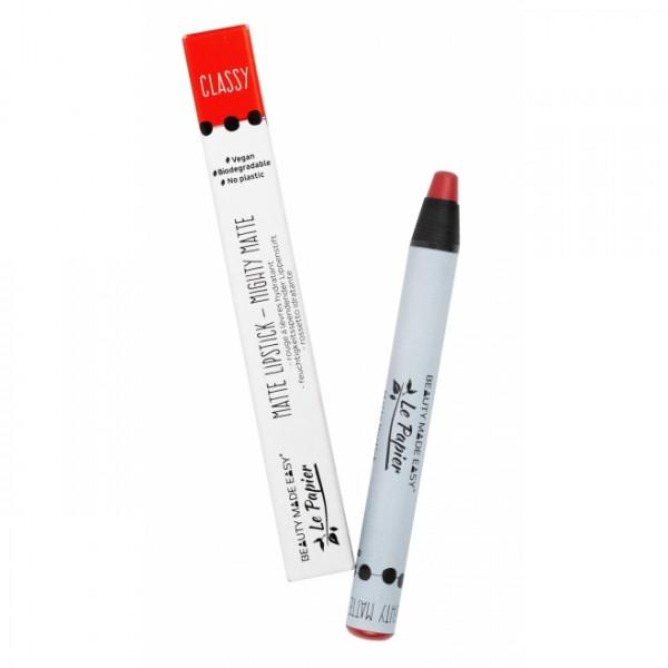 Creion - ruj hidratant mat CLASSY zero plastic Beauty Made Easy 6 g
