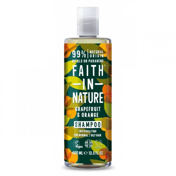 Sampon cu grapefruit si portocale pentru par normal sau gras Faith in Nature 400 ml  Șampon Faith in Nature