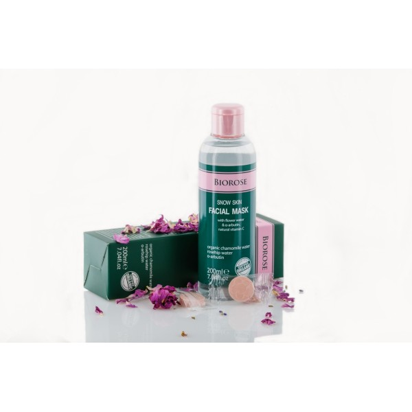 Masca faciala hidratanta si calmanta Snow Skin cu apa florala si vitamina C naturala Biorose  Curățare și Tonifiere Biorose
