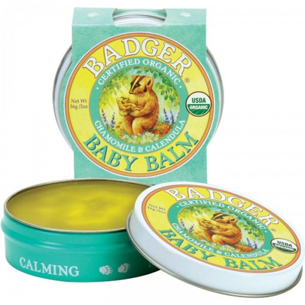 Mini balsam pentru bebelusi Baby Balm Badger 21 g  Produse Naturale Diverse Badger