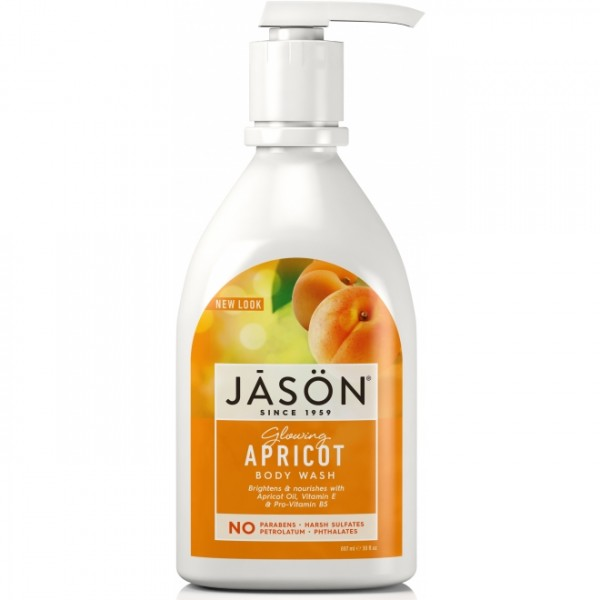 Gel de dus satinat cu caise 887ml Jason