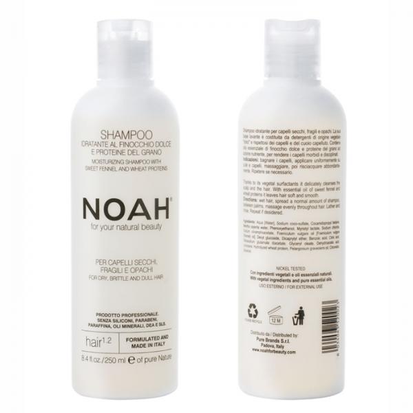 Sampon natural hidratant cu fenicul pentru par uscat, fragil si lipsit de stralucire (1.2) Noah 250 ml  Șampon NOAH