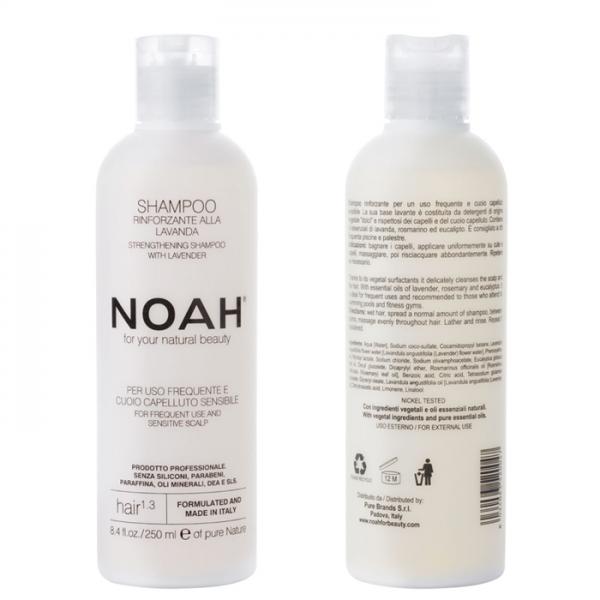 Sampon natural fortifiant cu lavanda pentru uz frecvent si scalp sensibil (1.3) Noah 250 ml  Șampon NOAH