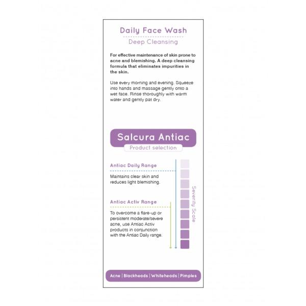 Gel de curatare ten cu acnee, cosuri, puncte albe sau negre, toate tipurile de ten, Salcura Antiac  150 ml  Curățare și Tonifiere Salcura Natural Skin Therapy
