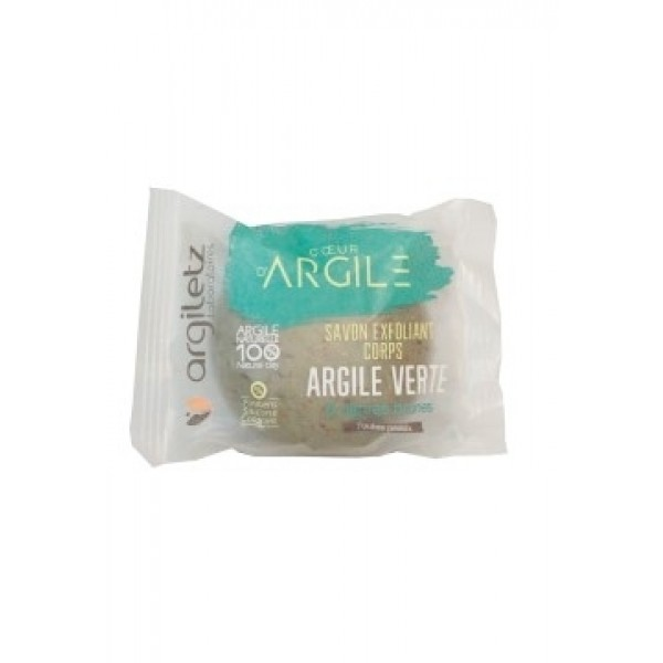Sapun solid exfoliant cu argila verde si alge Argi...
