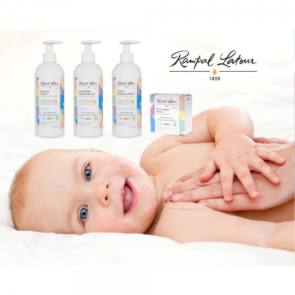 Gel bio de curățare și șampon delicat BABY 500ml Rampal Latour  Îngrijire Naturală Copii Rampal Latour
