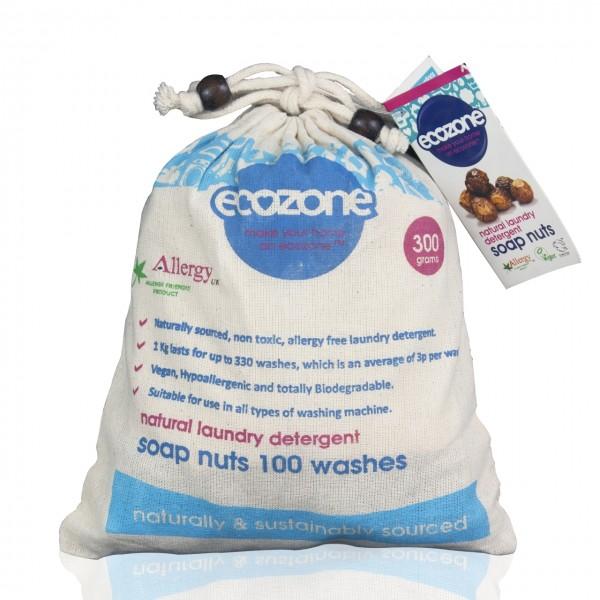 Nuci de sapun bio 100 de spalari Ecozone 300 g  Detergenți Bio Ecozone
