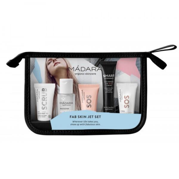 Fab Skin Jet Set - Kit de călătorie (110ml) MÁDARA  Hidratare Ten MÁDARA