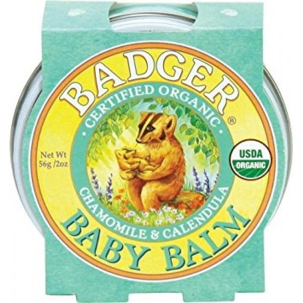 Mini balsam pentru bebelusi Baby Balm Badger 21 g