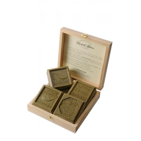 Cutie cadou 4 săpunuri de Marsilia