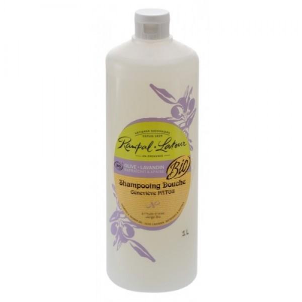 Gel de duş & şampon bio măsline lavandă 10...