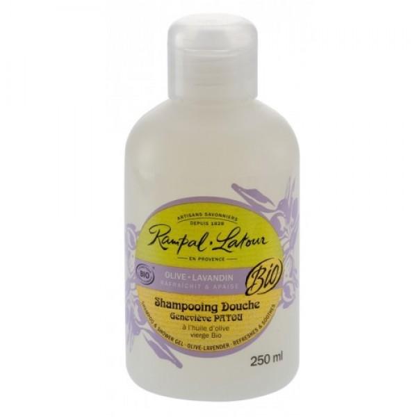 Gel de duş & şampon bio măsline lavandă 25...