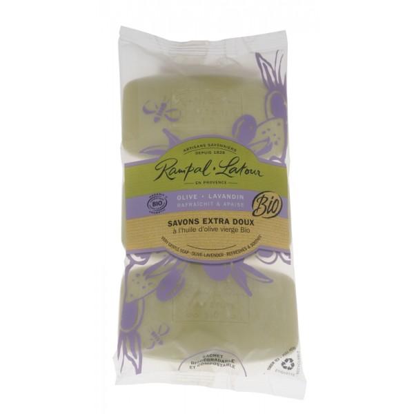 Pachet 3 săpunuri bio măslină lavandă Rampal L...