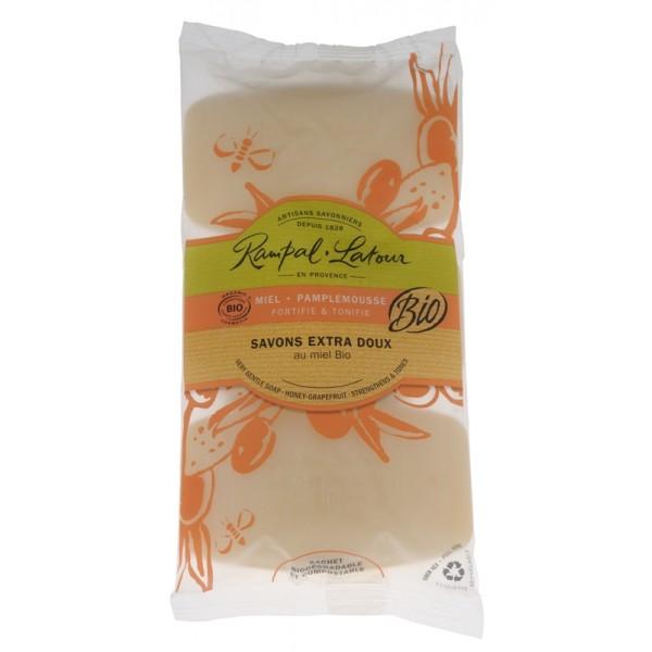 Pachet 3 săpunuri bio miere grapefruit Rampal Lat...