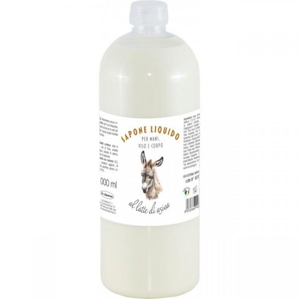 Sapun lichid BIO La Dispensa cu lapte de măgări�...