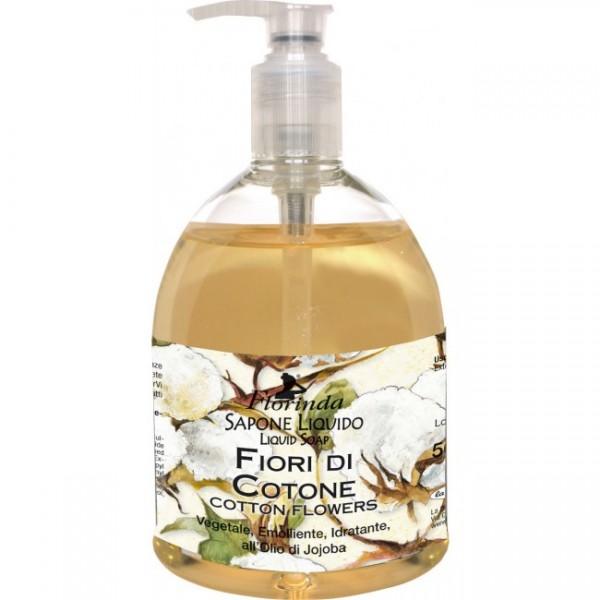 Sapun lichid La Dispensa cu flori de bumbac 500 ml...