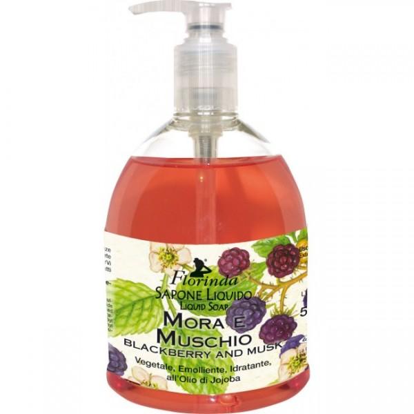 Sapun lichid La Dispensa cu mure si mosc 500 ml  Săpunuri Naturale La Dispensa