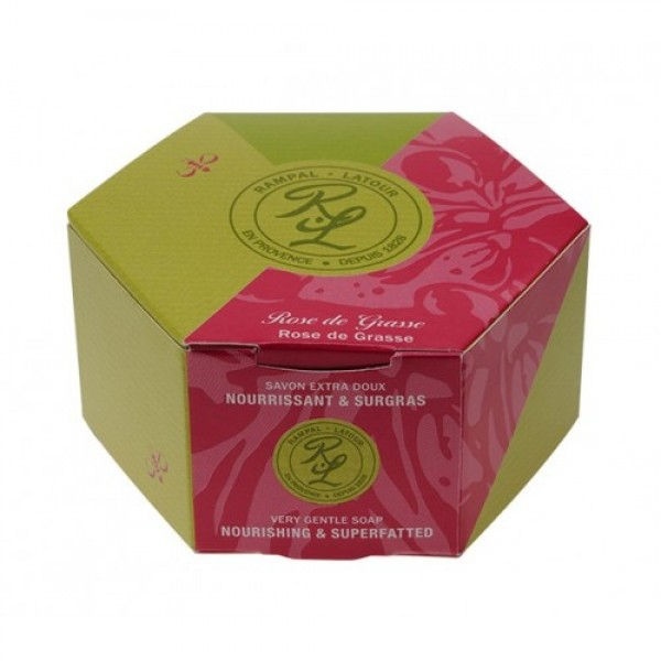 Săpun natural trandafir de Grasse 150g Rampal Lat...
