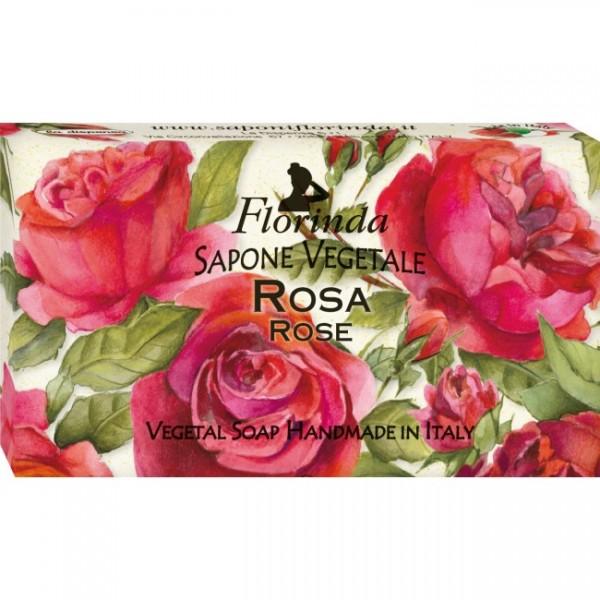 Sapun vegetal La Dispensa cu trandafiri 100 g