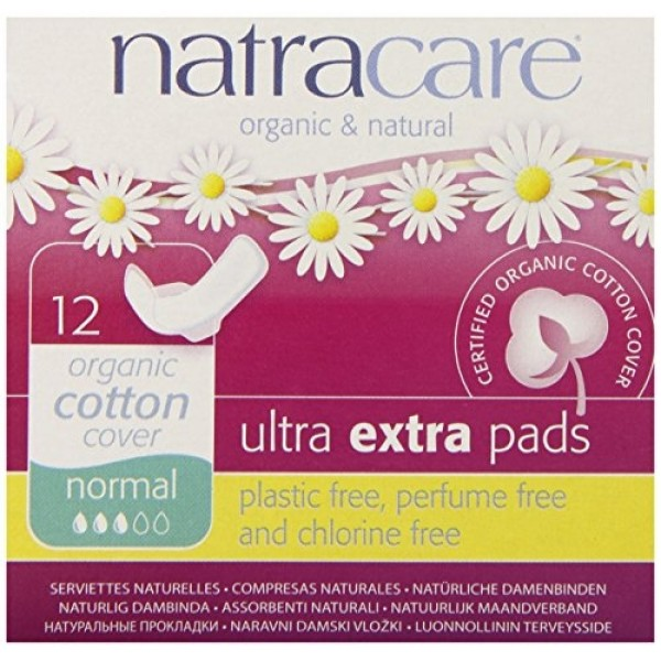 Absorbante Ultra Extra de noapte (3 picaturi) - normal Natracare  Absorbante Bio Natracare