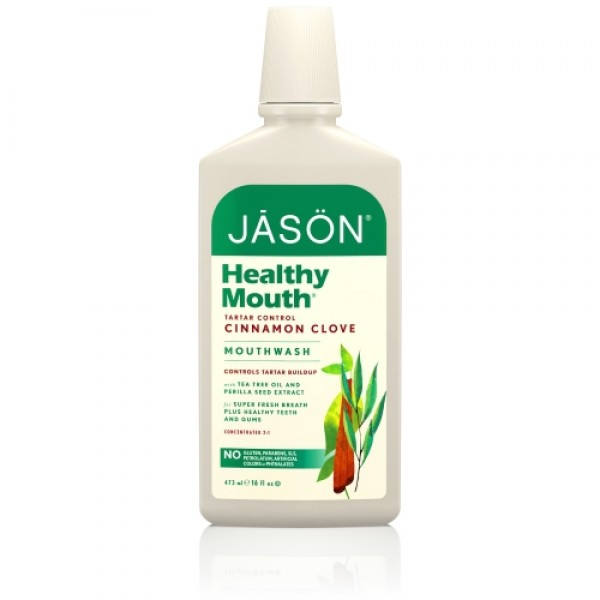 Apa de gura Jason cu tea-tree si scortisoara pentru gingiile iritate 473 ml  Îngrijire Dinți Bio Jason