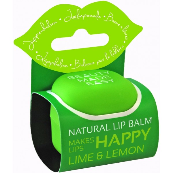 Balsam natural de buze cu lime si lamaie 7 g Beauty Made Easy  Cosmetice Bio Buze Beauty Made Easy