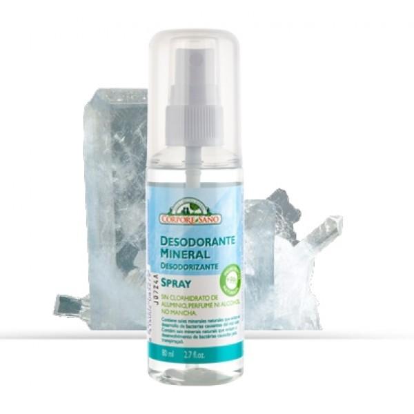 Deodorant mineral spray cu alaun Corpore Sano 80 m...