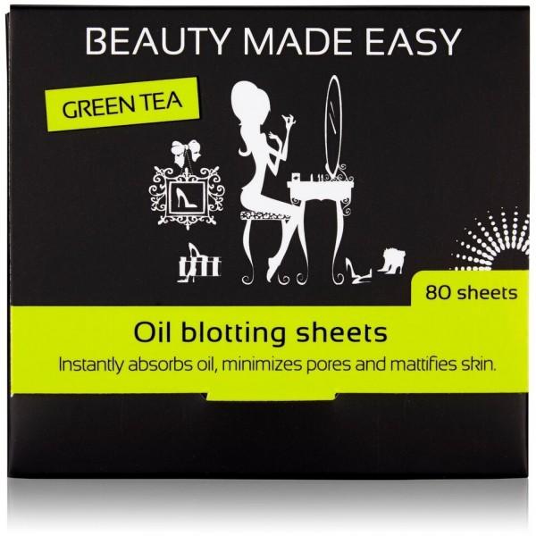 Foite matifiante  cu ceai verde, pentru ten 80 buc...
