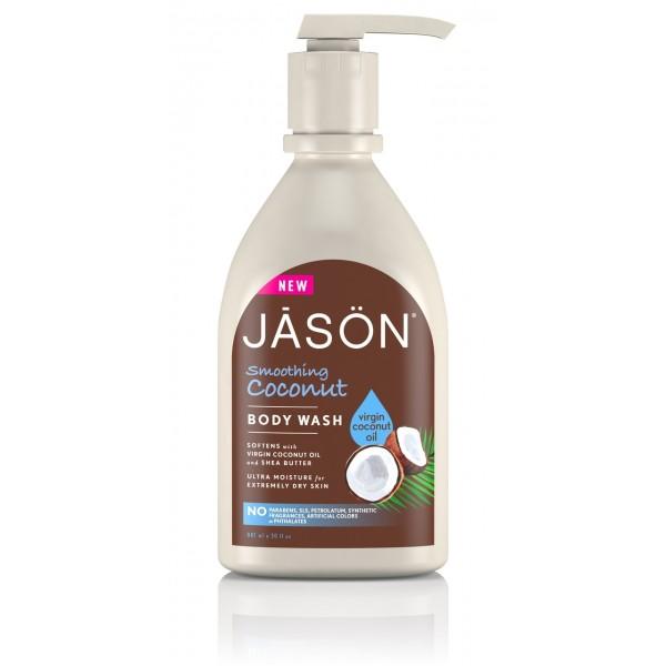 Gel de dus cu ulei de cocos Jason 887 ml  Baie și Duș Jason