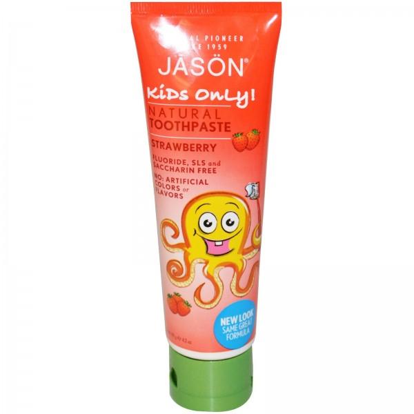 Pasta naturala de dinti cu capsuni pentru copii Ja...
