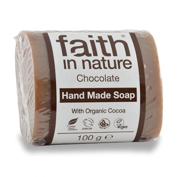 Sapun solid cu ciocolata Faith in Nature 100 g  Săpunuri Naturale Faith in Nature