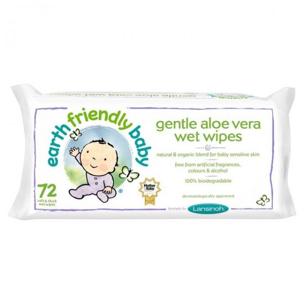 Servetele umede cu musetel si aloe vera 72buc  Earth Friendly Baby  Îngrijire Naturală Copii Earth Friendly Baby