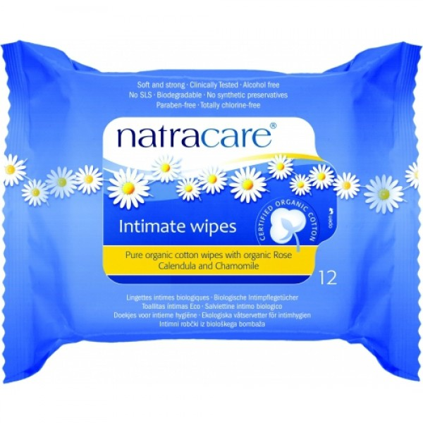 Servetele umede pentru igiena intima  Natracare  Accesorii Bio Natracare