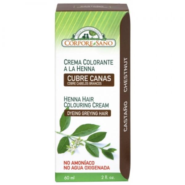 Vopsea henna crema  semipermanenta - Castaniu Corp...