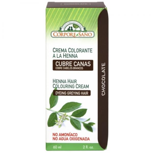 Vopsea henna crema semipermanenta - Ciocolata Corp...