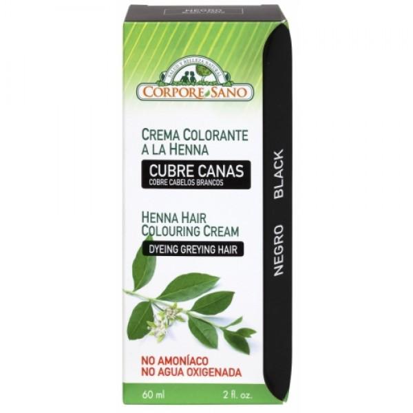 Vopsea henna crema semipermanenta - Negru Corpore Sano  Vopsea Naturală Corpore Sano