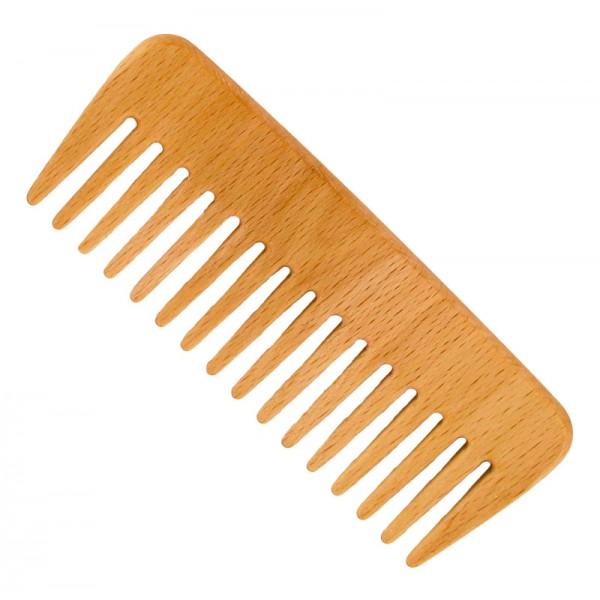 Pieptene din lemn de fag - pentru păr ondulat Fö...