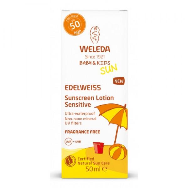 SUN EDELWEISS Baby & Kids Cremă de soare cu floare de colț SPF 50 Weleda 50ml  Îngrijire Naturală Copii Weleda