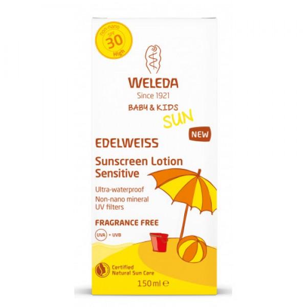 SUN EDELWEISS Baby & Kids Loțiune de soare cu floare de colț SPF 30 Weleda 150ml  Îngrijire Naturală Copii Weleda