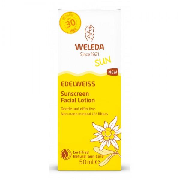 SUN EDELWEISS Cremă de soare cu floare de colț pentru față SPF 30 Weleda 50ml  Protecție Solară Weleda