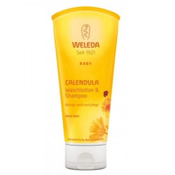 Weleda Baby - Loţiune şi şampon cu gălbenele p...