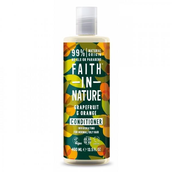 Balsam de par cu grapefruit si portocale pentru par normal sau gras Faith in Nature 400 ml  Balsam Faith in Nature