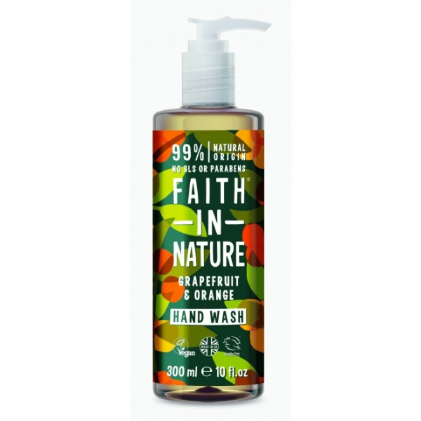 Sapun lichid cu grapefruit si portocale Faith in Nature 300 ml  Săpunuri Naturale Faith in Nature